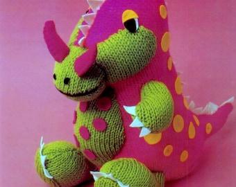 dinosaur toy dk knitting pattern 99p pdf