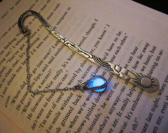Silver bookmark glow in the dark