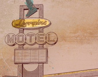 Memphis Art, Giclee Print , Wall Art , Wall Décor, Lorraine Motel Print