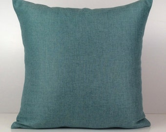 Light Teal Pillow, Throw Pillow Cover, Decorative Pillow Cover, Cushion Cover, Accent Pillow, Linen Blend Pillow, Home Decor, Sofa Decor