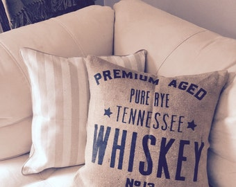 Whiskey|Jute Pillow Cover