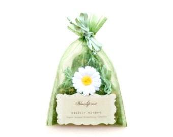 Melissa Meadow • Happy Days • Organic Lemon Balm & German Chamomile Scented Sachets • Aromatherapy • Botanical Bag + Drawer Freshener