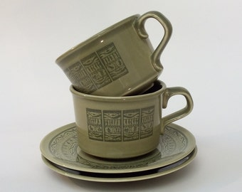 Taylor Smith Taylor Oasis Green Cup & Saucer, Shades of Grandeur Ironstone Dishes, TST Green Cup snd Saucer