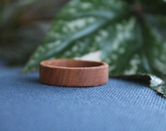 Hand Turned Wood Ring 13.5