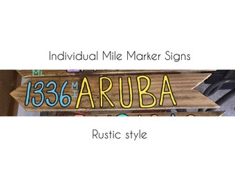 INDIVIDUAL RUSTIC Mile Marker Arrow