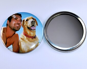 Personalised Gifts - Custom makeup mirrors - Custom pocket mirrors - Your photos/art on a 58mm mirror
