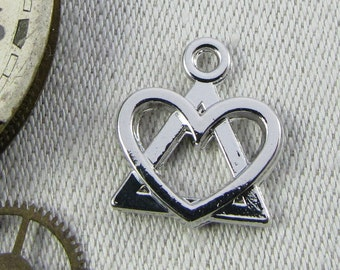 1 or 4, AA, AA Recovery Symbol, AA Charm, Recovery Charm, Sobriety Pendant, Sobriety Gift, Sponsor Gift, Alcoholics Anonymous, SYM074
