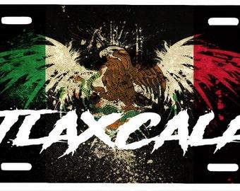 "Tlaxcala  Mexico Aluminum License Plate Placa  6"" x 12"""
