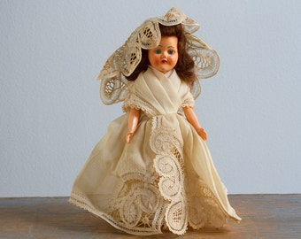 Vintage Hard Plastic Roddy Doll, Made in England, 7 1/2 Inch