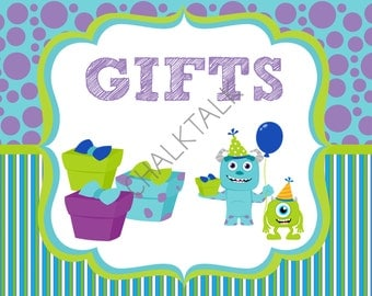 Monsters Inc Sign   Monsters Inc Gifts Sign   Monsters Inc Party   Monsters  Inc Chalkboard
