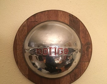 Dodge hubcap Wall Hanging, Mancave Wall Hanging, Vintage Hubcap, dodge