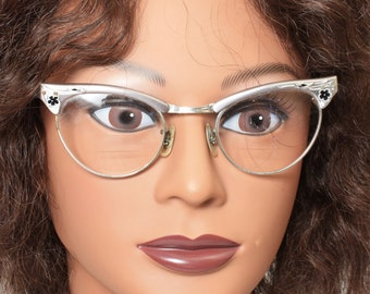 Cat Eye Eyeglasses, Mid Century, Cat Eye Glasses, Zylite, 1950s Eyeglasses, Womens Glasses