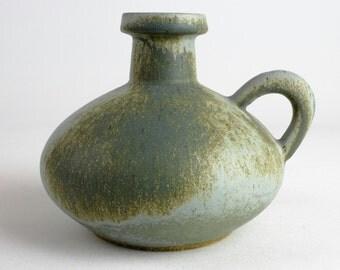 Mid century Otto green ceramic vase, vintage 70s West German Pottery - vintage
