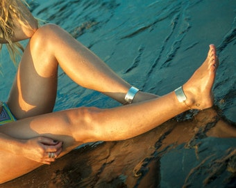 Gold filled ankle cuffs, anklets