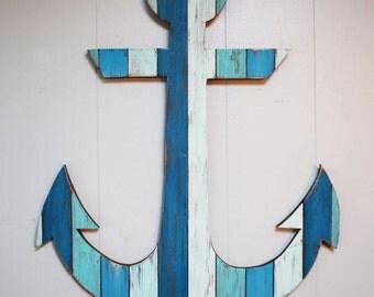 "Painted Anchor Wall Art 29"""