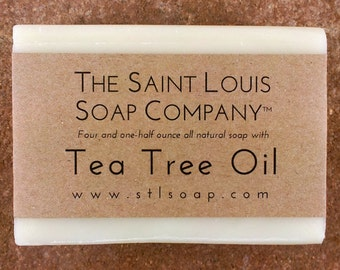 Tea Tree Oil Soap – Vegan Soap, Fragrance Free Soap, All Natural Soap, Hand Made Soap, Essential Oil Soap, Tea Tree Soap, Tea Oil Soap
