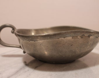 Vintage Preisner Pewter Porringer Bowl