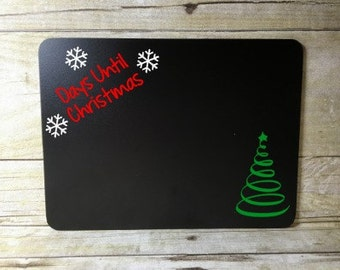 Days until Christmas Countdown Chalkboard Tree