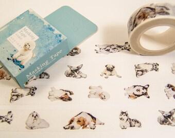 Masking Washi Tape - Dogs / Filofaxing DIY Scrapbooking Decorative Adhesive Tape