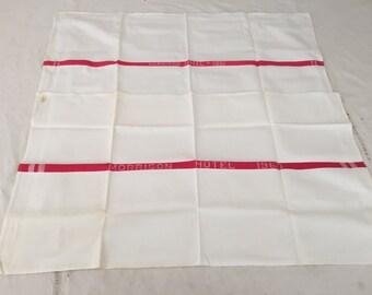 Vintage Morrison Hotel 1960 & 1961 Tea Towels (2) - Cotton Tea Towel - Dundee - Cannon - Dish Towel - Collectible  // LNJ