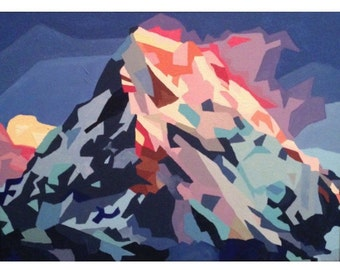 Mt. Everest Abstract Print