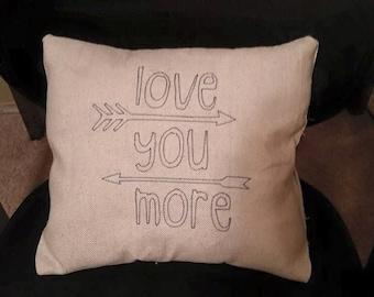 Custom made throw pillows with custom saying