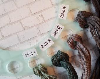 18 Hole Round Thread Organizer for DMC Floss, Threads and Craft Fibers