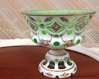 Gorgeous Antique Bohemian Glass Vase