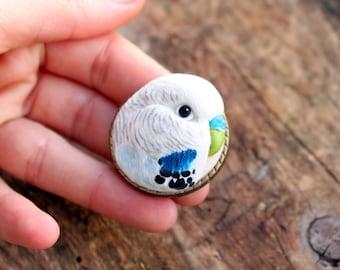Custom parrot portrait, custom pet portrait, custom pet jewelry, custom bird portrait, bird jewelry, pet owner custom gift, bird owner gift