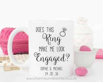 Does This Ring Make Me Look Engaged? Personalised Mug
