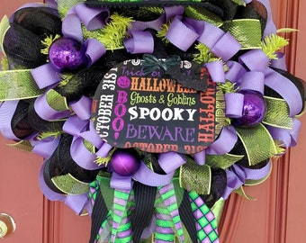 Witch wreath. Halloween wreath. Halloween witch wreath. Halloween decorations. Halloween door decor. Witch decorations. Witch legs. Witch.