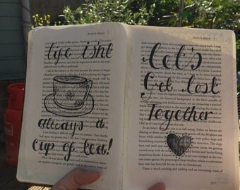 Book art quote, made to order.