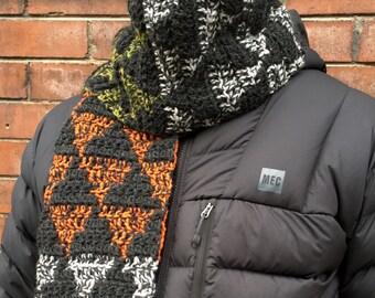 CROCHET PATTERN Mens Scarf, Crochet Scarf Pattern, Mens Crochet Scarf Pattern, Crochet Scarves for Men, Mens Crochet Patterns, Mens Crochet