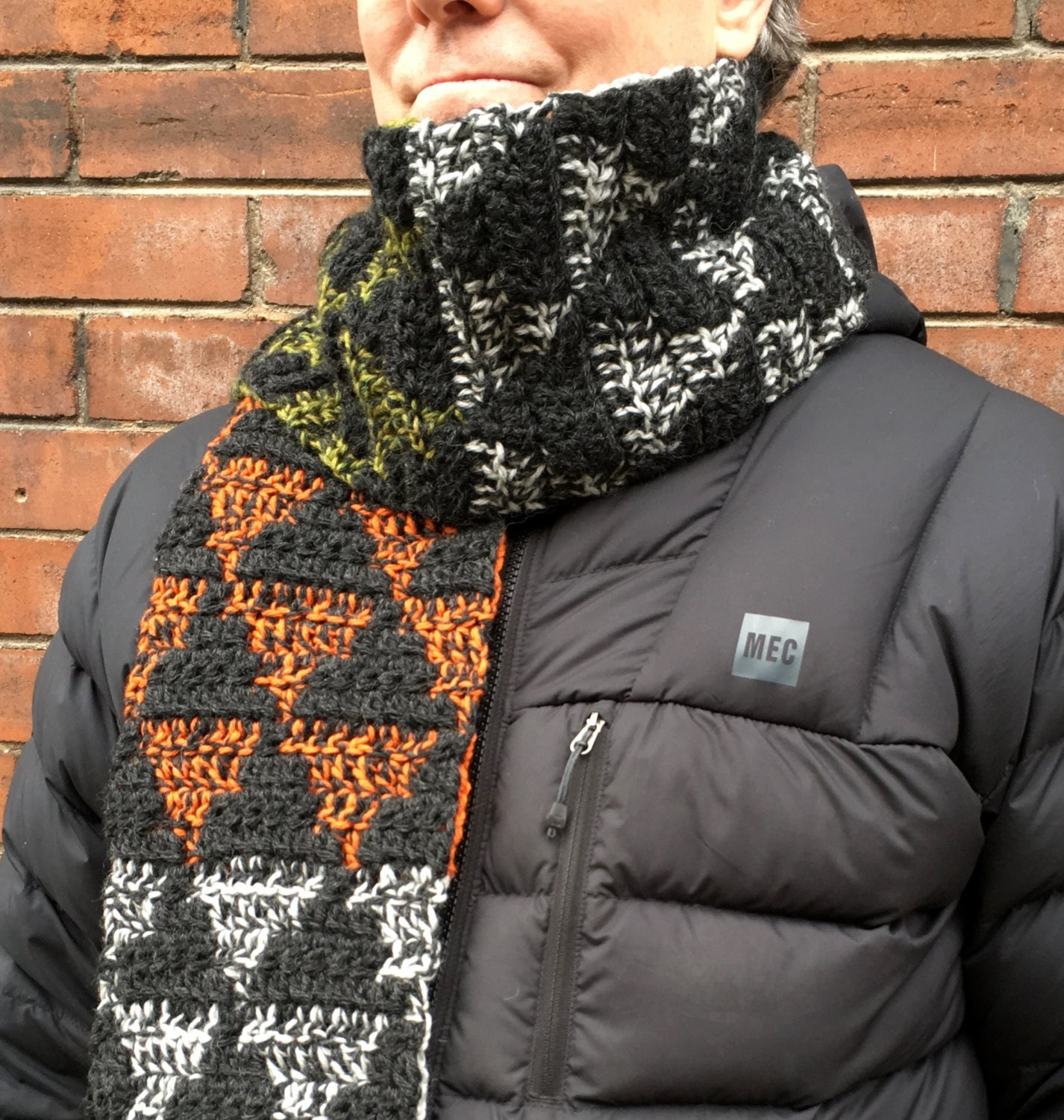 Crochet pattern mens scarf crochet scarf pattern mens crochet this is a digital file bankloansurffo Choice Image