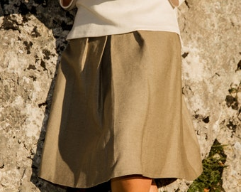 Hemp pleated skirt