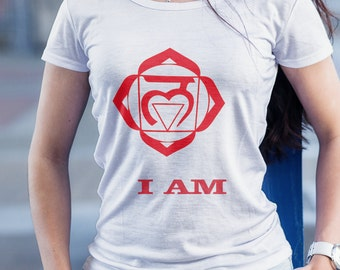 Root Chakras, Words of Affirmation, Meditation, I AM t-shirt, Sacred geometry, Yoga t-shirt, Consciousness t-shirts,