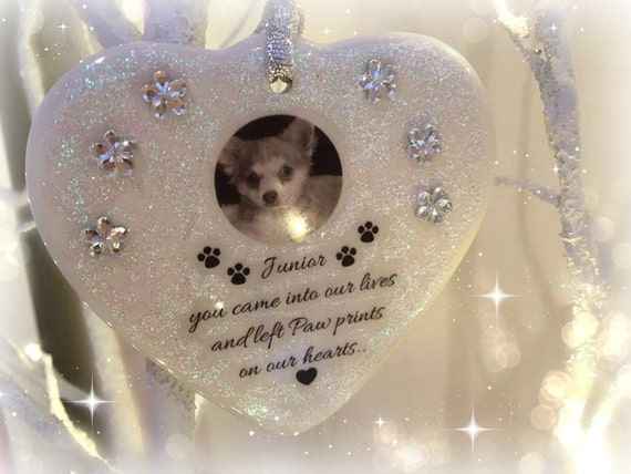 Personalized In loving memory/pet loss/Porcelain Keepsake/ Photo added/ Memorial gift