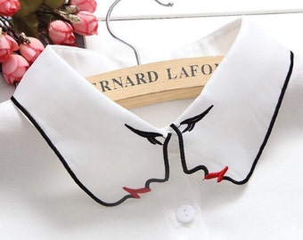 Peter pan false detachable collar.