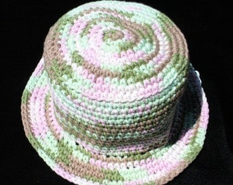 "Baby Bee Multi-colored 18"" Acrylic/Cotton crocheted hat"