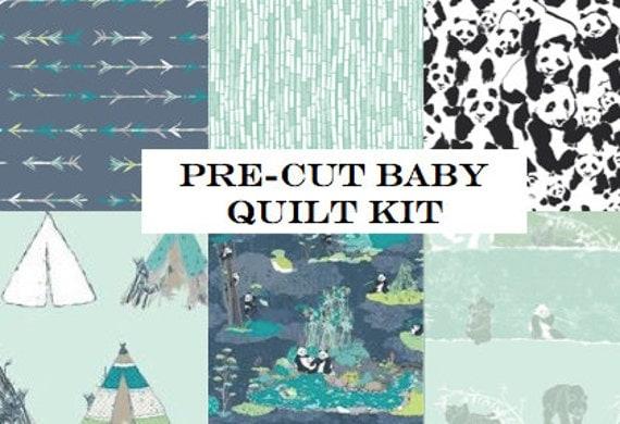 Baby Quilt Kit Panda Bears Pandalicious Nursery By