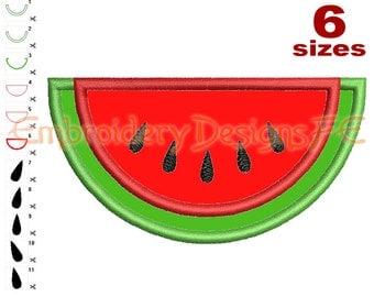 Watermelon Applique - 6 Sizes - Machine Embroidery Design File