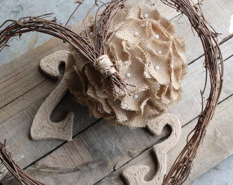 Rustic Wedding Burlap Ball