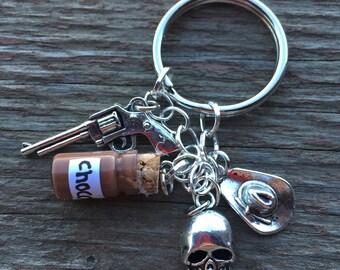 Carl Grimes Inspired Keychain