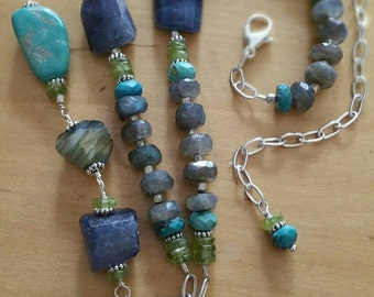 River and Sky Necklace