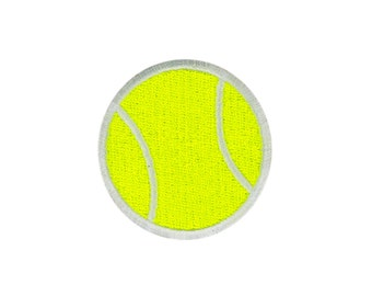 Tennis Emoji Embroidered Iron On Patch - FREE SHIPPING