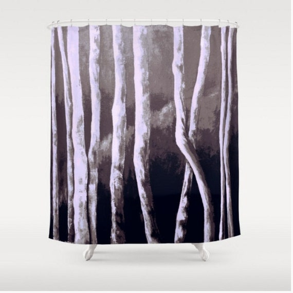 Shower Curtain Brown Shower Curtain Art By