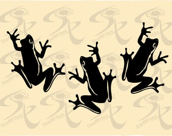 0027_FROGS,SVG,DXF, AI, png, eps, jpgVector Download files, Digital, graphical