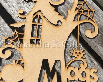 Personalised or Generic Haunted House Halloween decoration