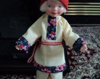 Pixie Elf Doll with Freckles ~ Believe From Holland ~ White Blonde Hair and Elfin Boots