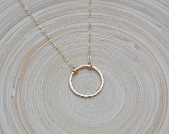 Circle Necklace, Gold Circle Necklace, Karma Necklace, Karma Circle Necklace, Gold Open Circle Necklace, Gold Ring, Gold Eternity Necklace